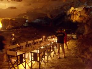 HaLong Bay cave dinner on the final night