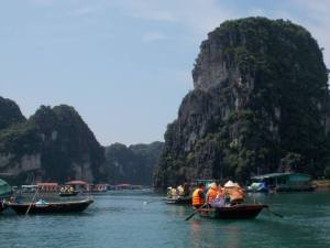 Fishing villages in the Halong Bay landscape