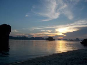 Hanoi Beach sunset
