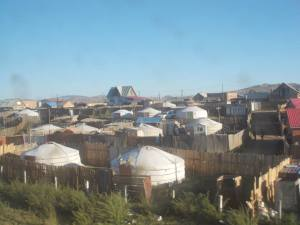 Traditional Yurts in the suburbs of UB