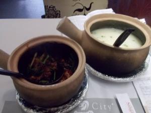 Frog porridge for breakfast in Saigon