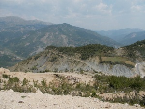Hill top roads in Albania, a taste of things to come