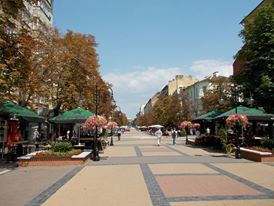 Fancy shopping area in Sofia city centre