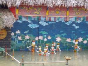 The world famous Vietnamese water puppet show